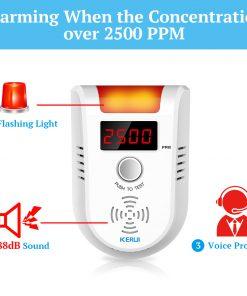 Wireless Intelligent Sensor Gas Leak Alarm Detector With Voice 6