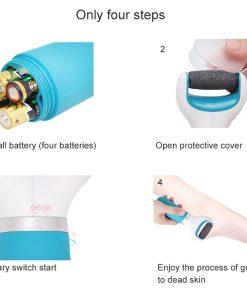 Electric Foot Care Machine Dry Dead Cuticle Skin Remover Pedicure Care Tool 2