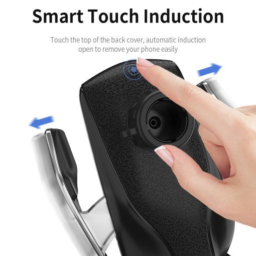 Automatic Clamping Phone Stand Charger For iPhone 11 Samsung S10 with Infrared Sensor 8
