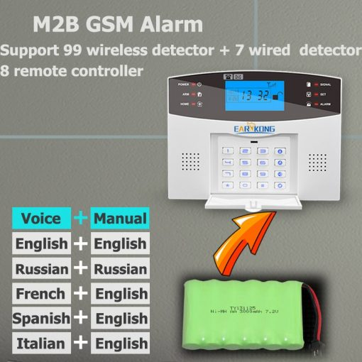 Wired & Wireless GSM Home Burglar Security Alarm System 433MHz 4