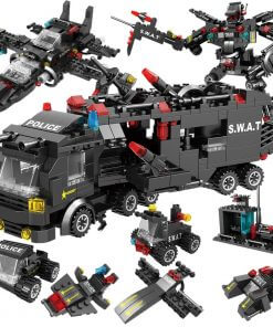 715pcs City Police Station Building Blocks SWAT Team Truck Educational Toy For Boys 8