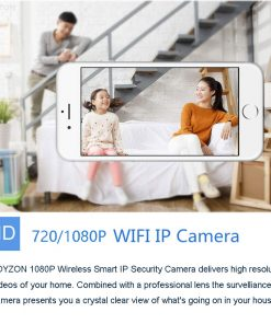 1080P HD Baby Monitor IP Camera WiFi Wireless Auto Tracking Night Vision Home Security CCTV Surveillance 2
