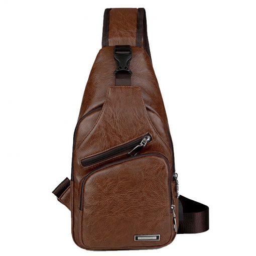 Luxury Men's USB Charging Casual Shoulder Bag 6