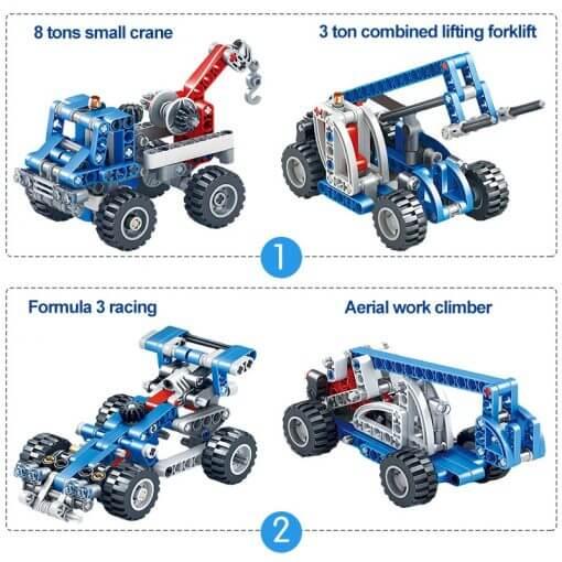 566pcs Construction Vehicle Dump Truck Building Model Toys for Boys 8