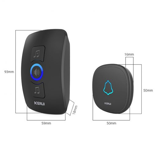 Wireless Smart Doorbell Alarm with LED Light and 32 Songs and Waterproof Touch Button 10
