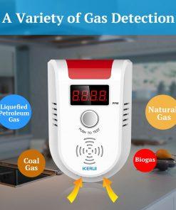 Wireless Intelligent Sensor Gas Leak Alarm Detector With Voice 8