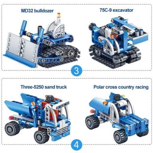 566pcs Construction Vehicle Dump Truck Building Model Toys for Boys 10
