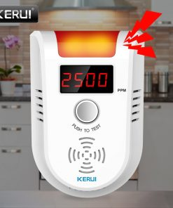 Wireless Intelligent Sensor Gas Leak Alarm Detector With Voice
