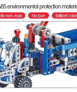 566pcs Construction Vehicle Dump Truck Building Model Toys for Boys 6