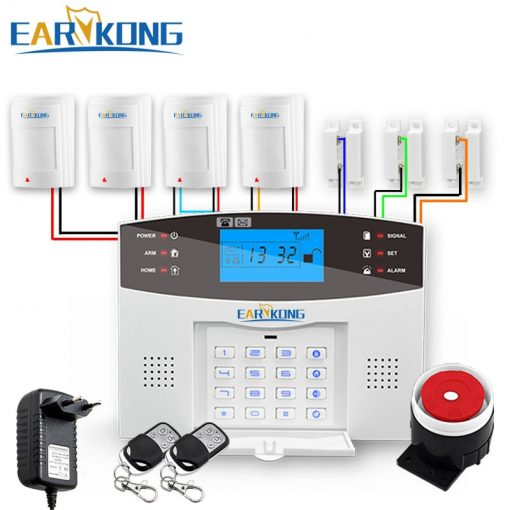 Wired & Wireless GSM Home Burglar Security Alarm System 433MHz