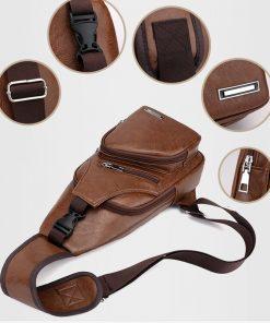 Luxury Men's USB Charging Casual Shoulder Bag 8
