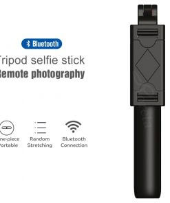 Roreta 3 in 1 Wireless Bluetooth Selfie Stick Foldable Mini Tripod Expandable Monopod with Remote Control for iPhone IOS Android 2