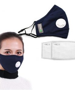Anti Pollution Respirator Washable Reusable Cotton Mask for Allergy-Asthma-Travel-Cycling 4