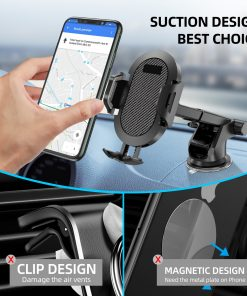Windshield Gravity Sucker Car Phone Holder For iPhone Smartphone 2