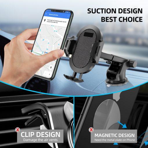 Windshield Gravity Sucker Car Phone Holder For iPhone Smartphone 2