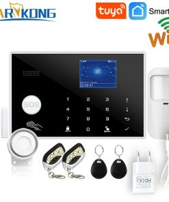 Wifi GSM 433 MHz Wireless Alarm System & Wired Detector Burglar Alarms RFID Card TFT LCD Touch Keyboard