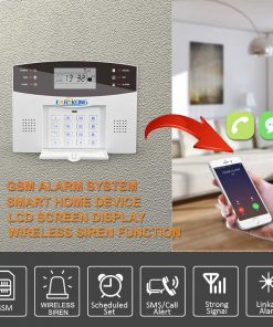 Wired & Wireless GSM Home Burglar Security Alarm System 433MHz 2