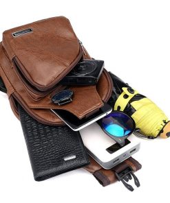 Luxury Men's USB Charging Casual Shoulder Bag 10