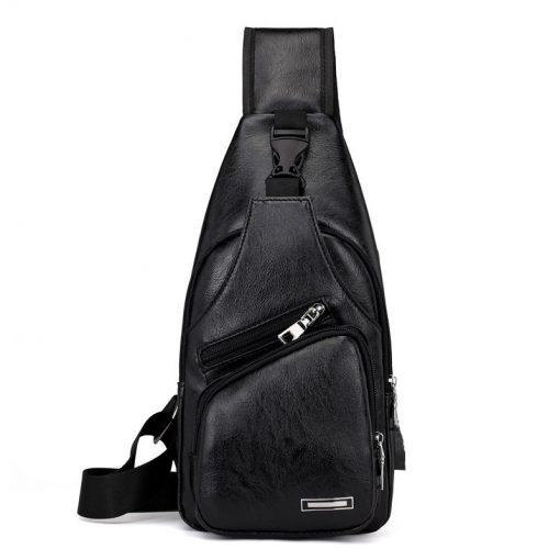 Luxury Men's USB Charging Casual Shoulder Bag 4