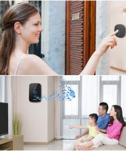 Wireless Smart Doorbell Alarm with LED Light and 32 Songs and Waterproof Touch Button 2