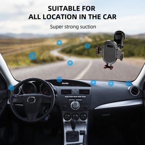 Windshield Gravity Sucker Car Phone Holder For iPhone Smartphone 10